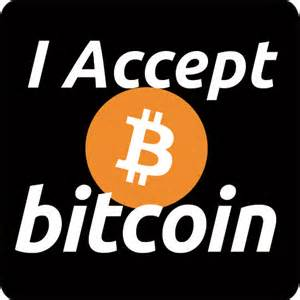 I accept BTC logo